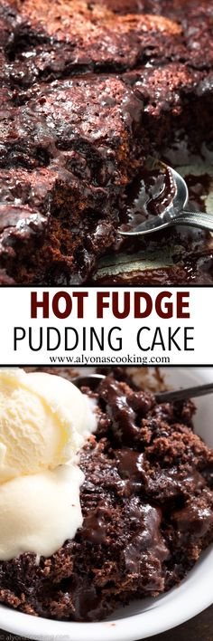 Hot Fudge Pudding Cake doesnt require any decorating skills! Its like chocolate cake and hot fudge all in one pan and the fudge sauce forms during the baking process! An easy dessert to put together and one delicious Hot Fudge Pudding cake to try! Brownie Desserts, Dessert Oreo, Köstliche Desserts, Chocolate Desserts, Delicious Desserts, Yummy Food, Chocolate Cake, Cheesecake Cookies, Delicious Chocolate