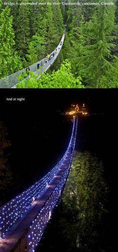 Vancouver - Ponte dia e noite