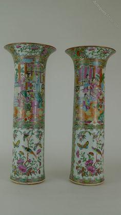 Antiques Atlas - Wonderful Large Pair 19th C Chinese Canton Vases