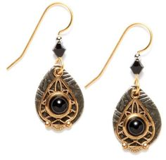 6803defed Black Onyx Lace Teardrop Earrings One Size from Silver Forest available at  joyfulcrown.com Fish