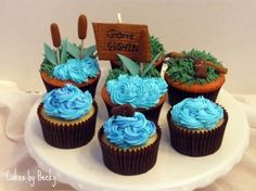 Gone Fishin' Cupcakes By ButRCream on CakeCentral.com
