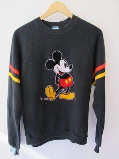 Vintage Disney Mickey Mouse Sweatshirt  Size XL by kokorokoko, $38.00
