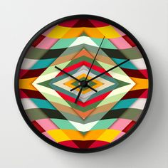 Colorful Smile Wall Clock by Danny Ivan - $30.00