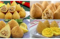 sal Coxinha Recipe, Macarons, Muffin, Breakfast, Recipes, Food, Skillet Cake, How To Make Cake, Appetizers