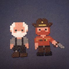Rick and Hershel - The Walking Dead hama beads by gabez94