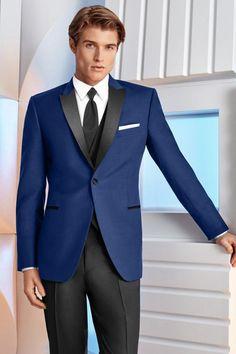 Tuxedo Available at Ella Park Bridal   Newburgh, IN   812.853.1800   IKE Behar - Ultra Slim Cobalt Blue Tribeca