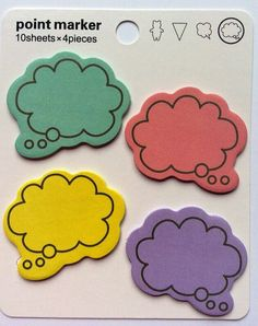 Sticky Talk Bubble Page Markers