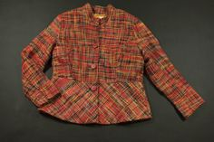 Coldwater Creek Blazer Jacket Womens Size 14 Red Multi-Color with Plaid #ColdwaterCreek #Jacket