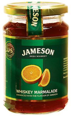 Jameson marmalade.... (we got this and it's really good! very whiskey-ey...)  good for a glaze maybe?