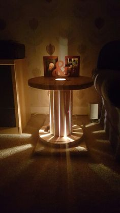 Cable drum table light