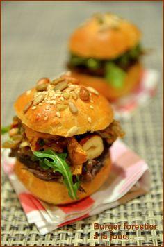 Mini-Burger forestier à la joue de bœuf -