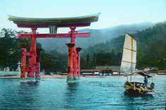 Miyajima Torii and Boat - From the Sea by Okinawa Soba, via Flickr