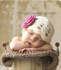 Baby Girl Hat, Baby Hat, Newborn Hat, Crochet Hat,Flower Hat, Photo Prop, Hat with Flower on Etsy, $11.99
