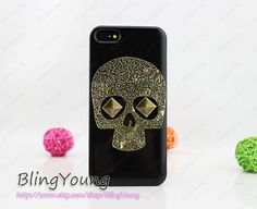 ON SALE iphone 4 case skull iphone 5s case iphone 5c by BlingYoung, $6.99