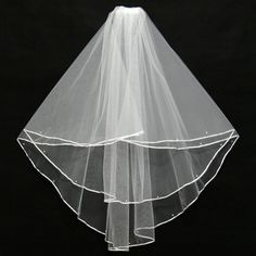 >> Click to Buy << JAEDEN Simple Style Two Layers Details With Pearls Ribbon Edge Bridal Veils Light Ivory New Arrival Wedding Veils 2017 V035 #Affiliate