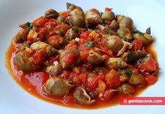 snail recipes italian with picture | How to Make Sea Snails in Tomato Sauce | Italian Food Recipes | Genius ...
