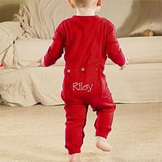 Personalized toddler Long Johns .. how adorable