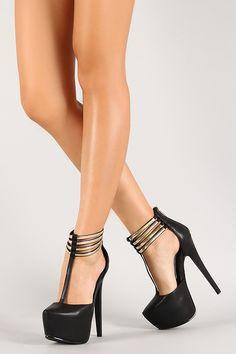 Sandals platform metallic gold