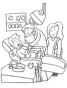 dentist coloring pages printout - Dental Coloring Pages Printable