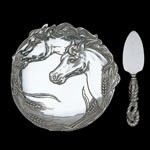 Arthur Court Horse Plate W/Cheese Server