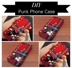 DIY Fabric Phone Case : DIY Punk iPhone Case