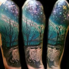 "Image result for ""northern lights"" tattoo watercolor"