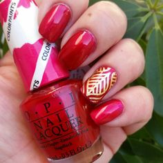 """OPI - Color Paints collection. """"Magenta Muse"""" Grundat med """"Silver Canvas"""" :)"""
