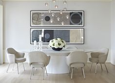 Refined, modern dining room by Jessica LaGrange Interiors.