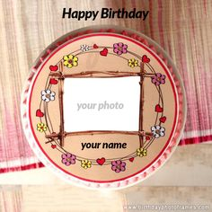 happy birthday chocolate cake with name and photo edit online Happy Birthday Wishes Song, Happy Birthday Rose, Birthday Cake Roses, Birthday Wishes With Name, Happy Birthday Cake Pictures, Happy Birthday Wishes Cake, Birthday Cake With Photo, Beautiful Birthday Cakes, Happy Birthday Messages