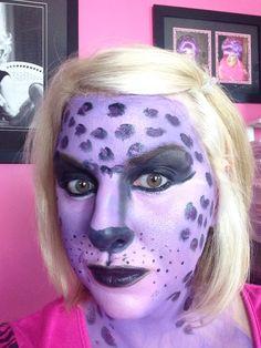 Purple leopard Halloween makeup