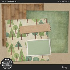 Camp mini kit from Digital Freebies #freebie #digiscrap #scrapbook