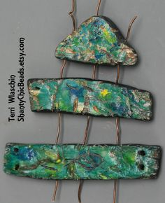 Poly Clay pendants or connectors by ShantyChicBeads on Etsy