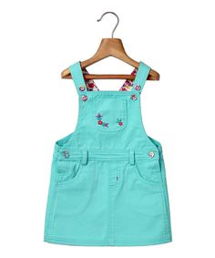 This Turquoise Embroidery-Accent Jumper - Infant, Kids & Tween by Beebay is perfect! #zulilyfinds
