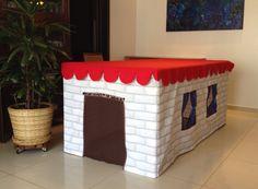 Table playhouse / Tablecloth playhouse / toalha de mesa - casinha / casinha de tecido