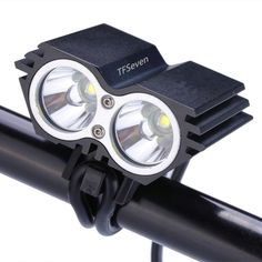 Cycling LED Light Headlamp , TFSeven® 5000 Lumen U2 XML CREE Bicycle Light headlamp with 4x18650 Battery Pack for Camping Hiking Cycling Riding >>> Want to know more, click on the image.