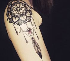 Mandala dreamwatcher tattoo by Miss Voodoo Tattoo | Post 14642