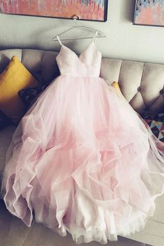 Pink Evening Dresses #eveningdress Short Prom Dresses #shortpromdresses Tulle Prom/Evening Dress #promdress #dressesprom