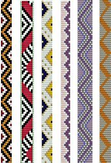 Macrame Bracelet Patterns, Diy Friendship Bracelets Patterns, Bead Loom Bracelets, Woven Bracelets, Beaded Jewelry Patterns, Peyote Stitch Patterns, Bead Loom Patterns, Beading Patterns, Bead Loom Designs