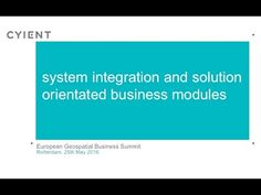 Applying Lessons Learnt about Systems & Solutions from other Industries to the Geospatial Industry