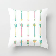 Pastel+Arrows+Throw+Pillow+by+Lindsey+Kay+Nichols+-+$20.00