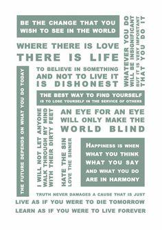 Gandhi Quotes print www.ellymo.com
