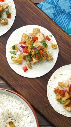 Put a refreshingly sweet twist onto savory chicken soft tacos with spicy, fruity salsa.