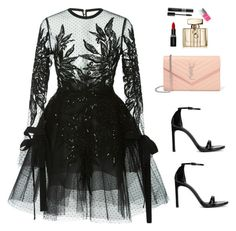 """""""Sin título #2345"""" by lorena117 ❤ liked on Polyvore featuring CO, Stuart Weitzman, Yves Saint Laurent, Smashbox, Gucci and Christian Dior"""
