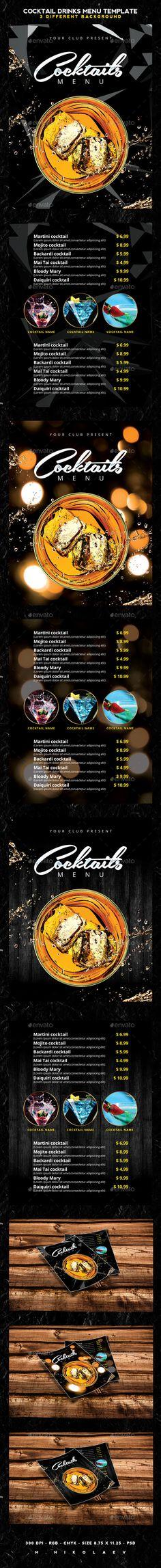 wine card, menu card, drinks Wine Design Pinterest Menu - cocktail menu template free download