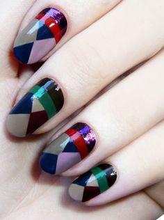 # nail art # losange