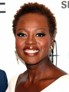 Viola Davis  Leaving her signature wigs at home, Viola Davis goes natural by sporting a cropped 'do.