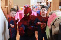 Spiderman can show his moves  www.PremierPrincessParties.com