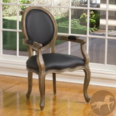 Christopher Knight Home Jacob Black Leather Weathered Oak Arm Chair | Overstock.com Shopping - The Best Deals on Chairs  $265.49 #15554785
