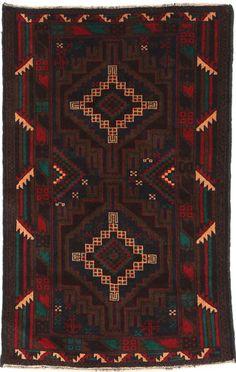 Orientalsk tæppe i denne stil, gerne Beluch.
