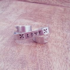 Crossed Arrows LOVE Ring - Trendy Jewelry - Double Ring via Etsy